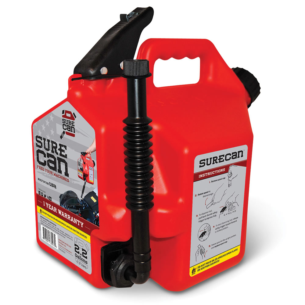 Plastic Gas Cans >> The No Tilt Gas Can