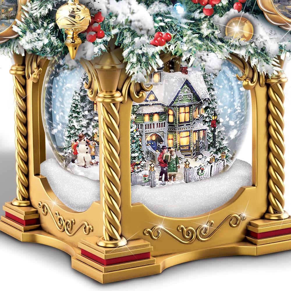 The Thomas Kinkade Snow Globe Tabletop Tree2