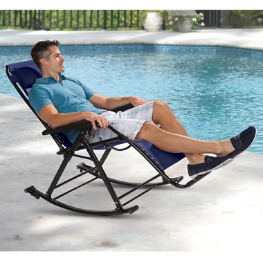 The Reclining Cool Mesh Rocker