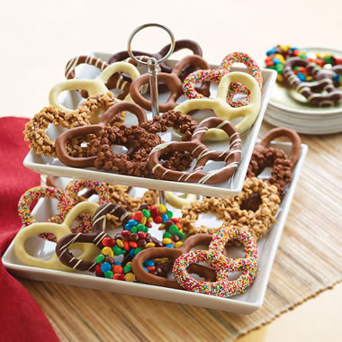 The Belgian Chocolate Hand Dipped Pretzels.
