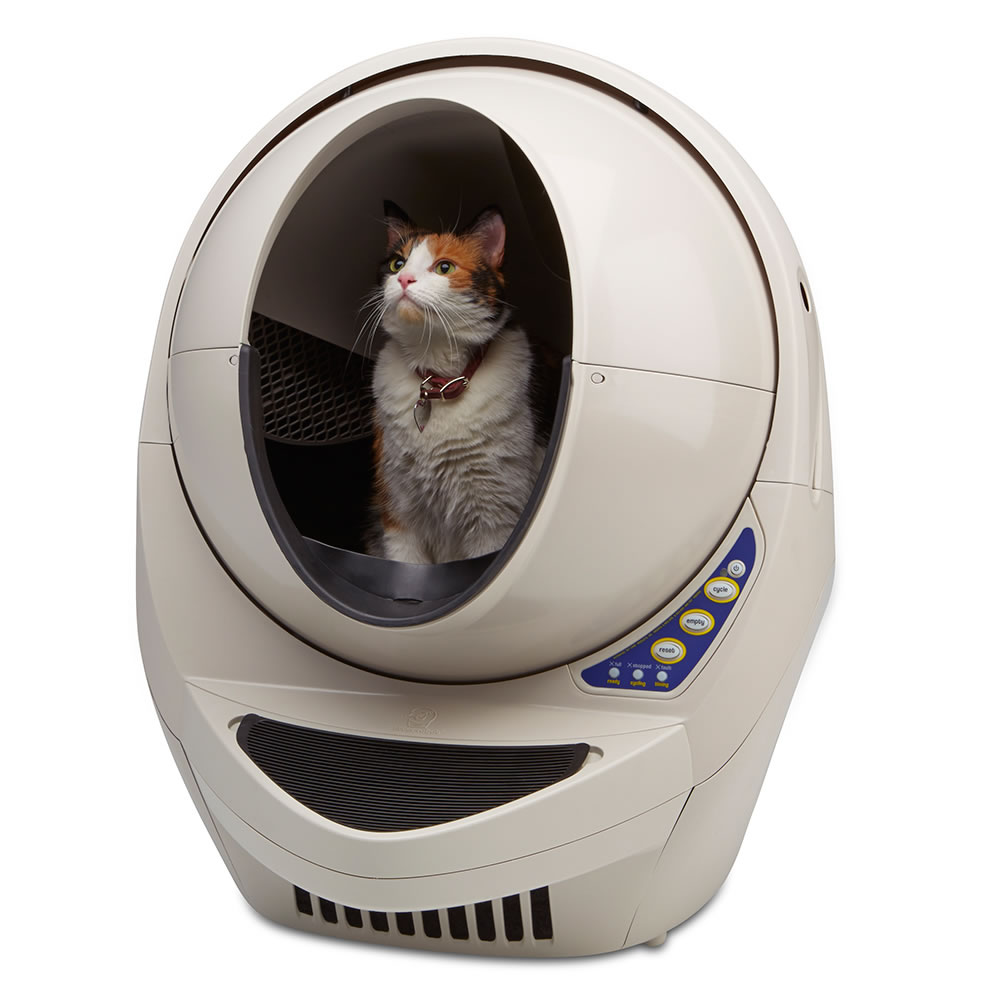 the best automatic cat litter box hammacher schlemmer
