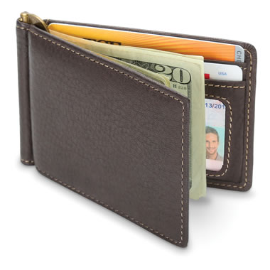 The White Tailed Deerskin Money Clip Wallet
