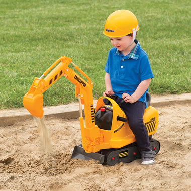 The Young Construction Worker's Excavator