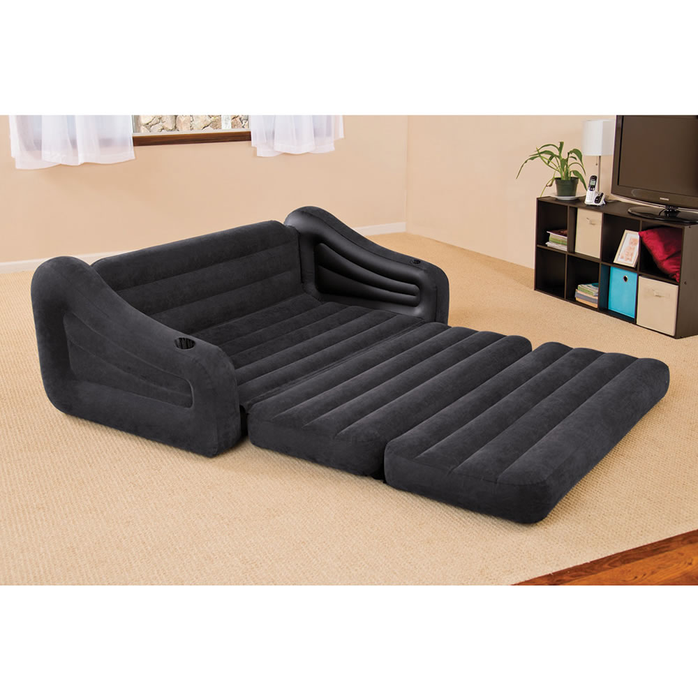The Inflatable Queen Size Sleeper Sofa Opened