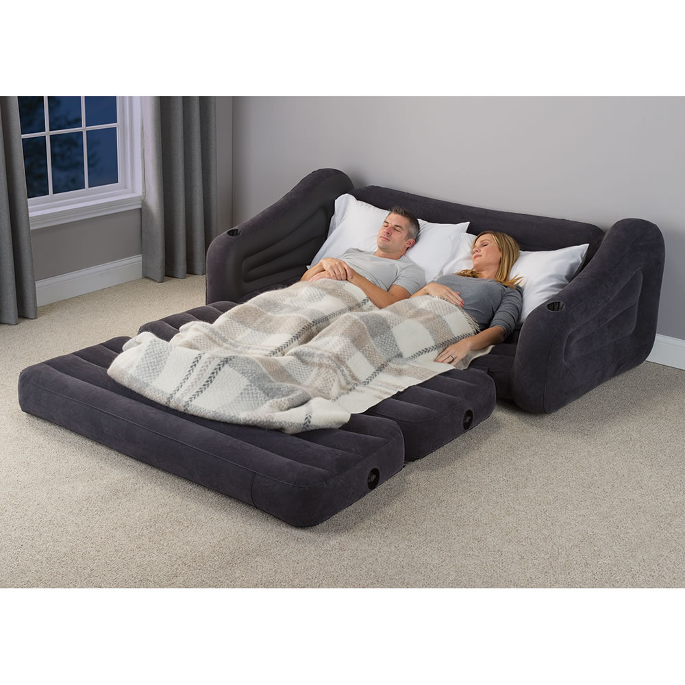the inflatable queen size sleeper sofa hammacher schlemmer. Black Bedroom Furniture Sets. Home Design Ideas