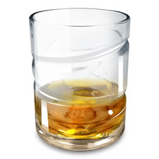 The Spinning Helix Whiskey Aerating Glass