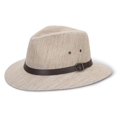 The Woven Linen Safari Hat