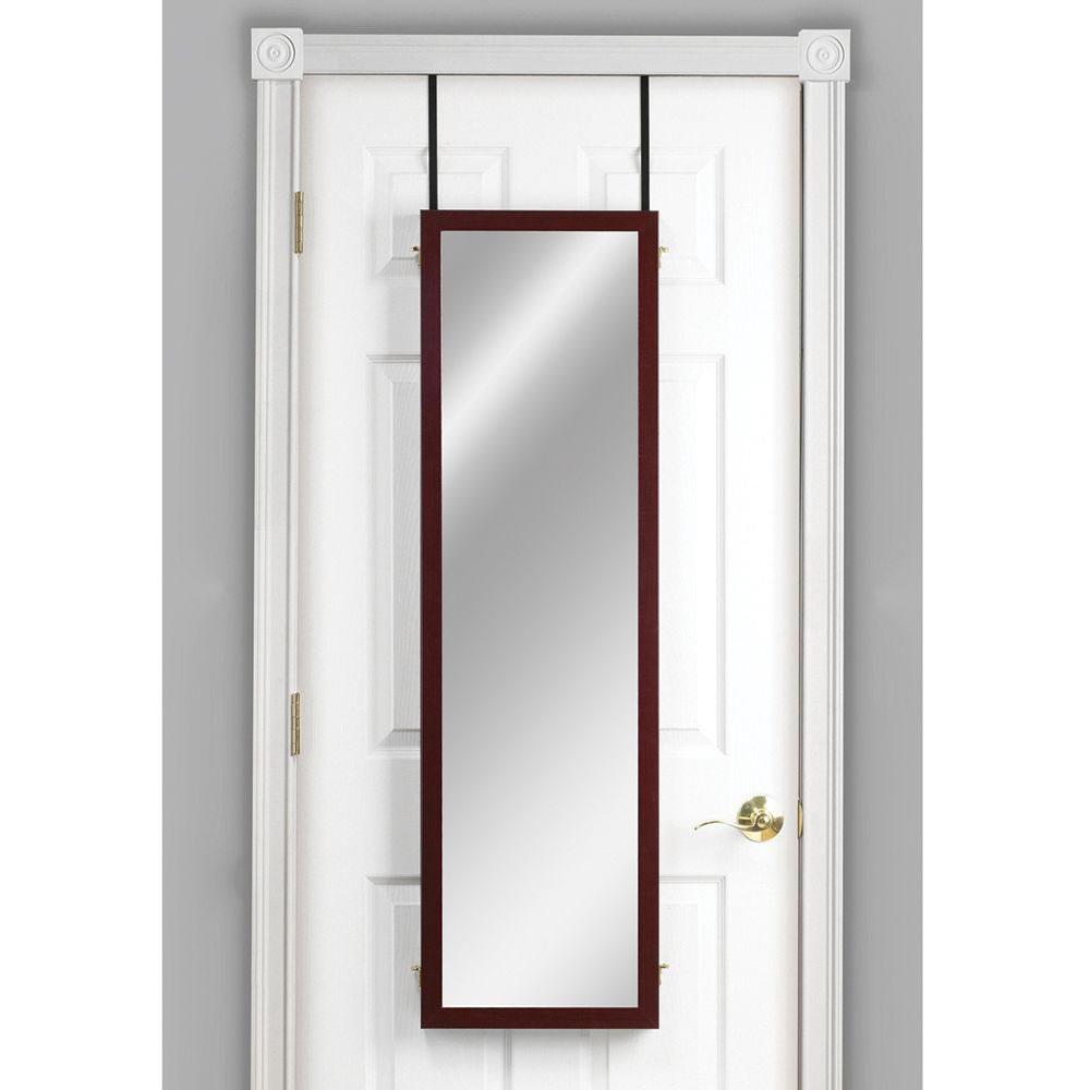 The Over The Door Trifold Dressing Mirror Hammacher Schlemmer