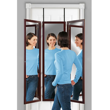 The Over The Door Trifold Dressing Mirror