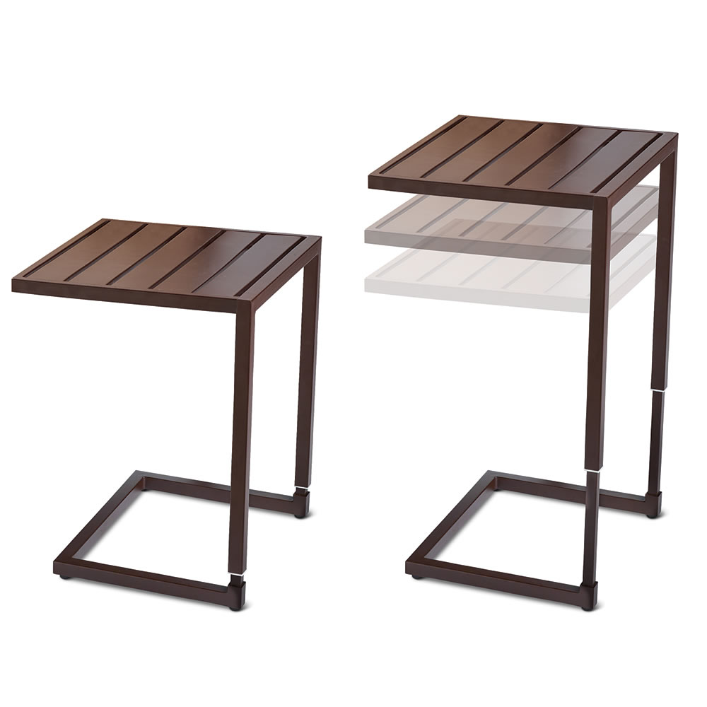 the height adjustable nesting snack tables