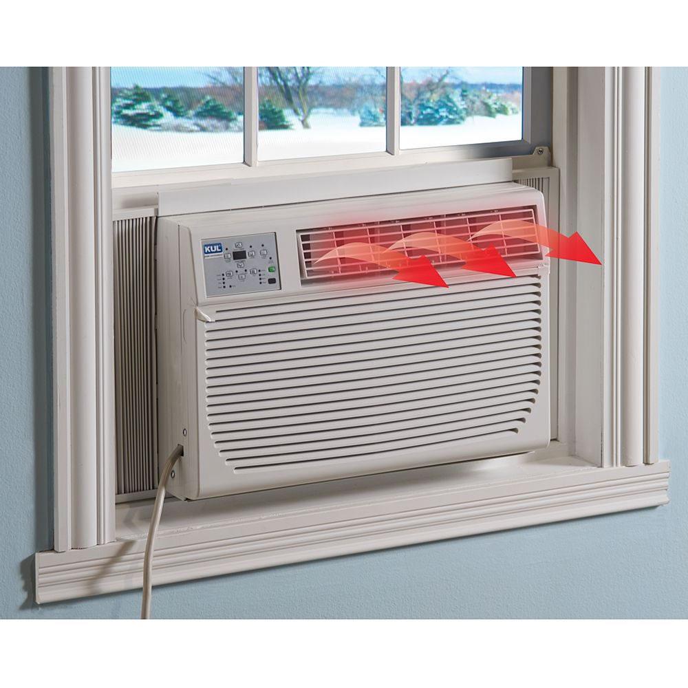 the all season air conditioning heater window unit hammacher schlemmer. Black Bedroom Furniture Sets. Home Design Ideas