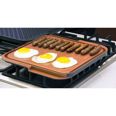 The Scratchproof Nonstick Double-Sided Griddle/Grill