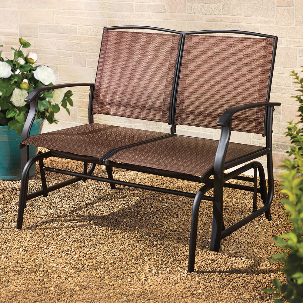 Charming The Breathable Mesh Outdoor Glider Bench