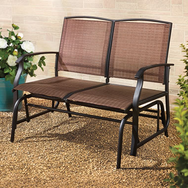 Breathable Mesh Outdoor Glider Bench