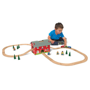 The Award Winning Pack And Go Wooden Train Set