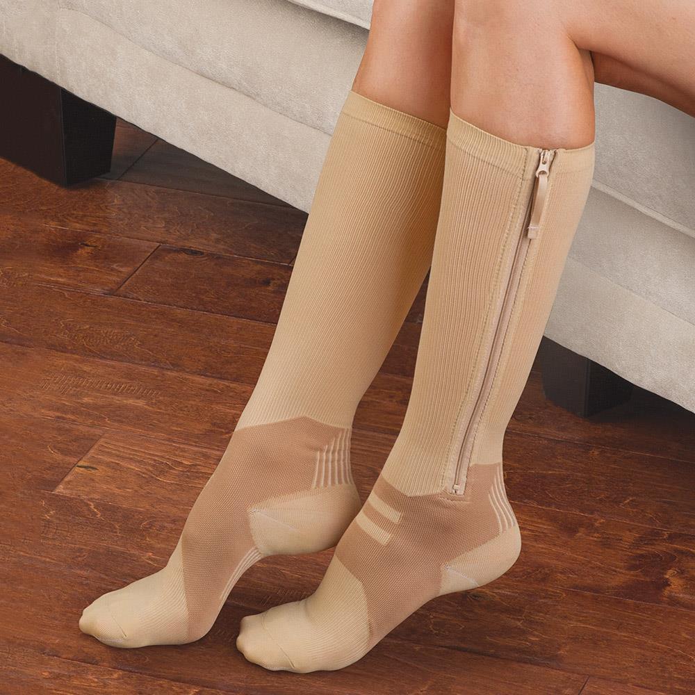 e8daec29c84 The Easy On Closed-Toe Compression Socks - Hammacher Schlemmer