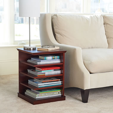 Organized Readers End Table Walnut
