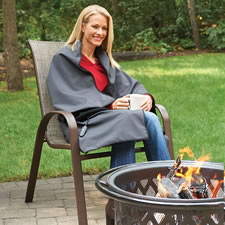 The Indoor/Outdoor Cordless Heated Throw