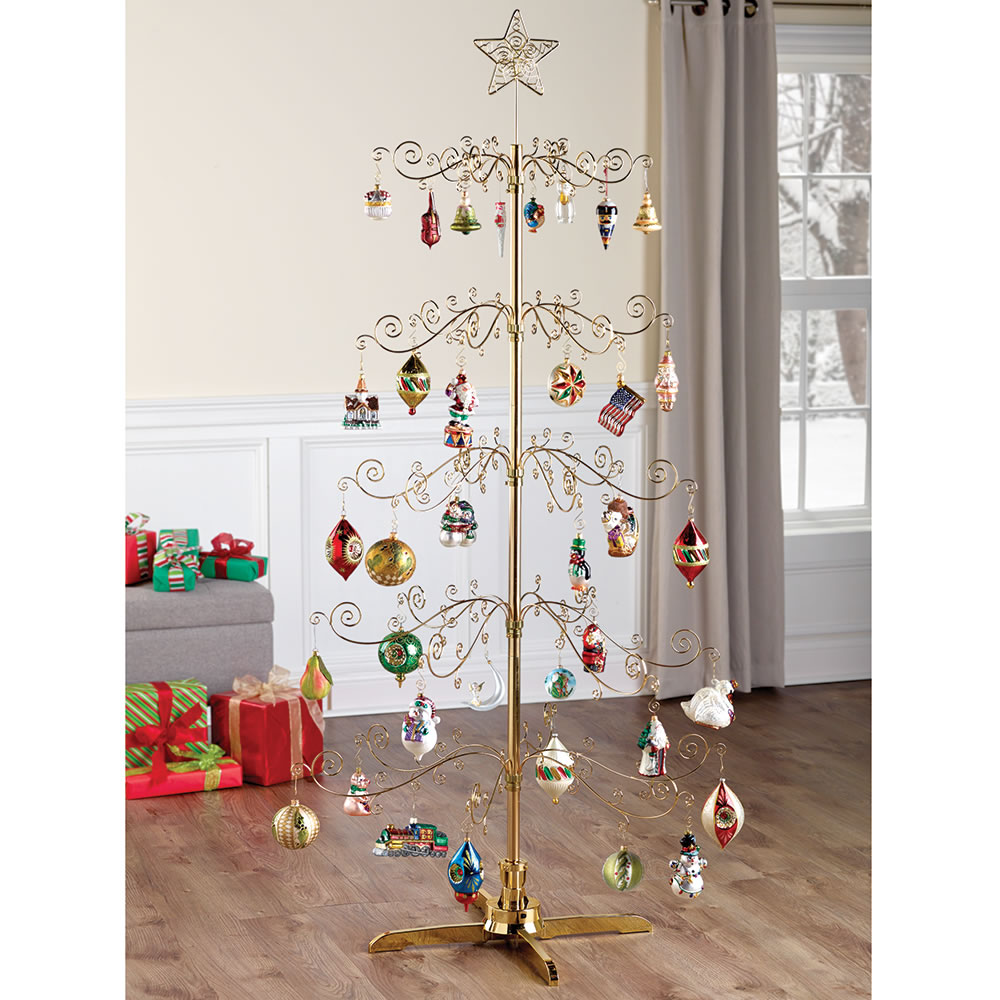 The 6' Rotating Ornament Display Tree - Hammacher Schlemmer