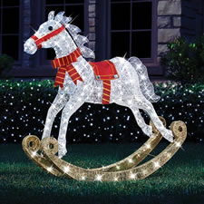 The 4' Twinkling Rocking Horse