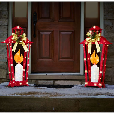 3.5 Ft Illuminiated Holiday Lantern Set