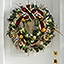 The Cordless Prelit Crimson And Gold Holiday Trim (Wreath) - On front door