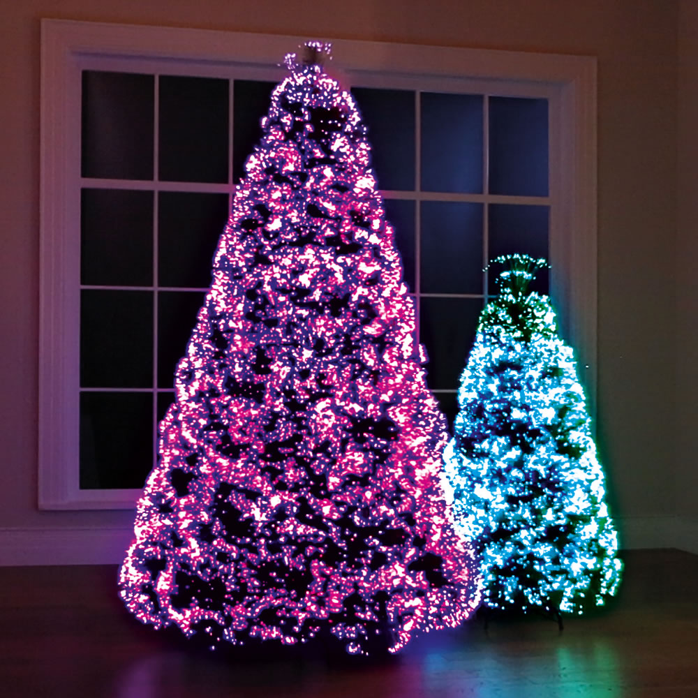 The Northern Lights Christmas Trees Pink And Blue At Night