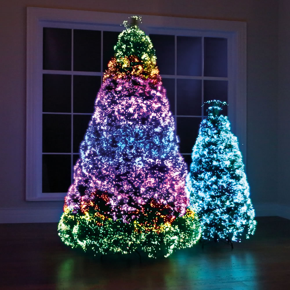 The Northern Lights Christmas Trees Hammacher Schlemmer