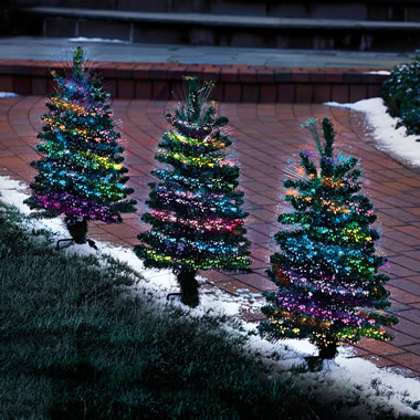 The Holiday Light Show Tree Luminarias
