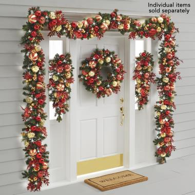 The Cordless Prelit Kensington Holiday Trim (Wreath)