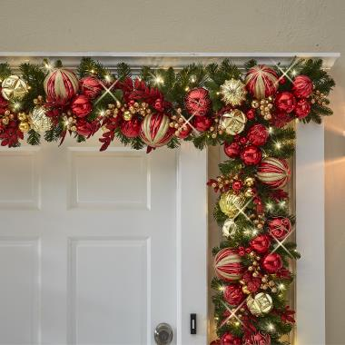 The Cordless Prelit Kensington Holiday Trim (Garland)