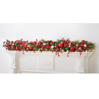 The Cordless Prelit Classic Holly Jolly Holiday Trim (Garland)