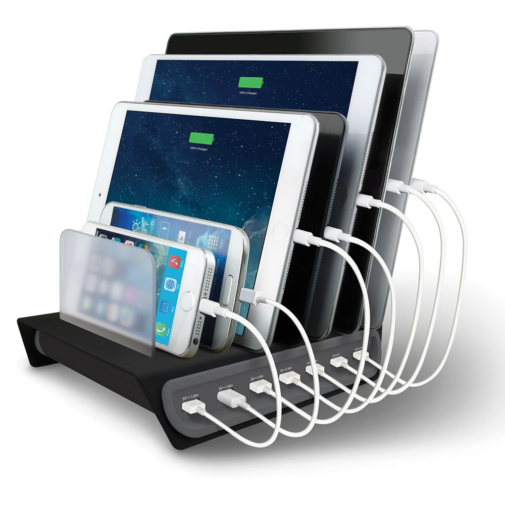 The 7 Device Charging Station Hammacher Schlemmer
