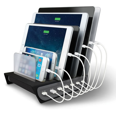 The 7 Device Charging Station.