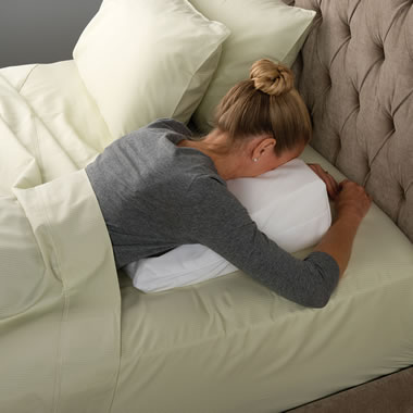 Back And Spine Pain Relieving Pillow White