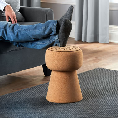 The Champagne Cork Foot Stool