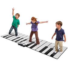 The World's Largest Toe Tap Piano
