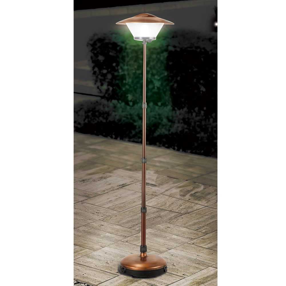The cordless telescoping patio lamp hammacher schlemmer the cordless telescoping patio lamp workwithnaturefo