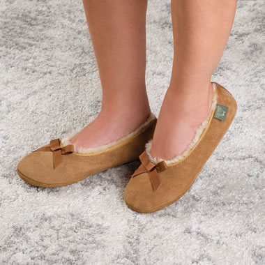 The Lady's Sheepskin House Slippers