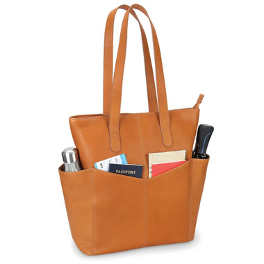 The Lightweight Leather Travel Tote