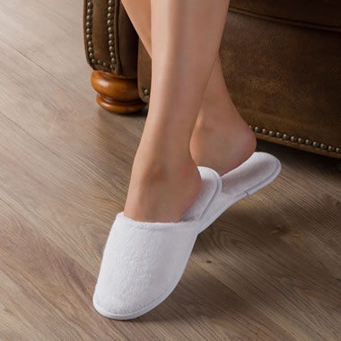 Turkish Cotton Slippers Xl Whi