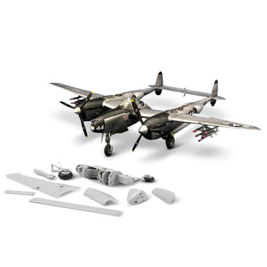 The P-38L Lightning WWII Model Kit