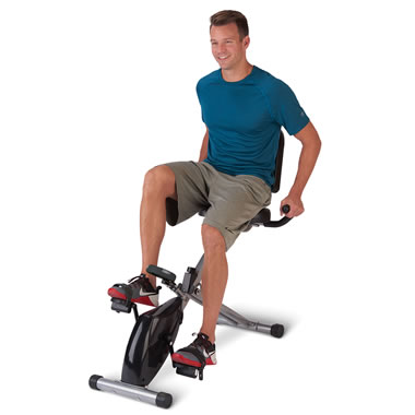 The Foldaway Recumbent Exercise Bicycle