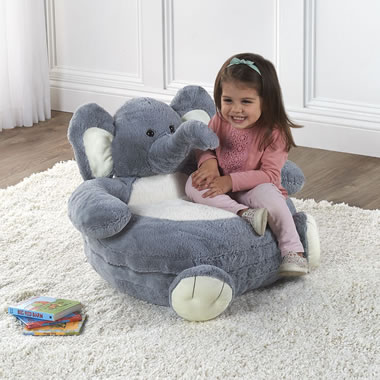 Animated Elephant Chair with Child