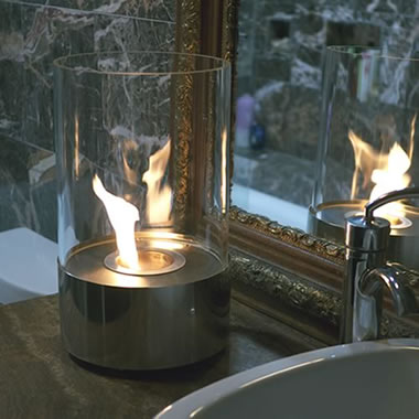 The Tabletop Cylindrical Fireplace
