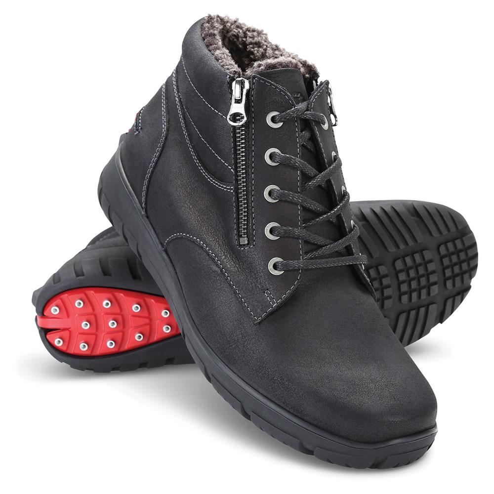 790ebc38a1f Instant Convertible Cleated Boots (Men s) - Hammacher Schlemmer