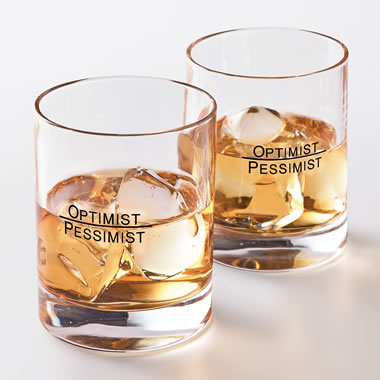 Optimist Pessimist Glass Set