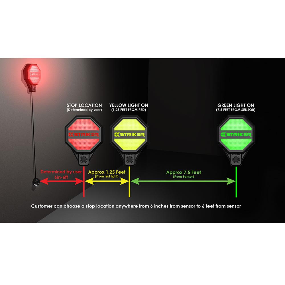 The Garage Stoplight Hammacher Schlemmer