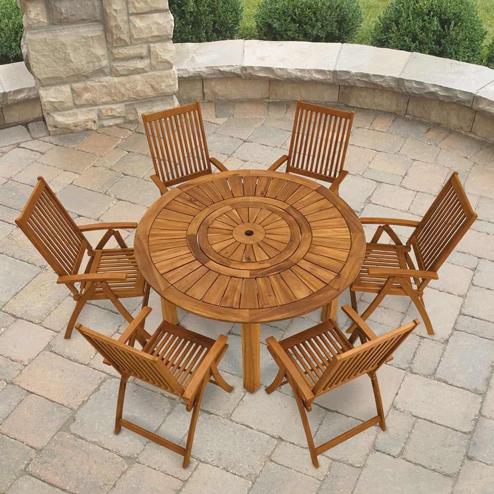brown with table p set wicker outdoor piece cushion sets dining bay kapolei hampton reddish patio