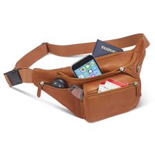 The Organized Lightweight Leather Hip Pouch
